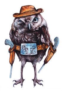 cowboy owl by Katerina Kalinich