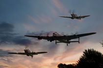 BBMF Low Pass at Sunset von Steve H Clark Photography