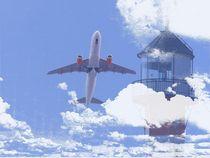 Abflug + Leuchtturm von Peter Norden