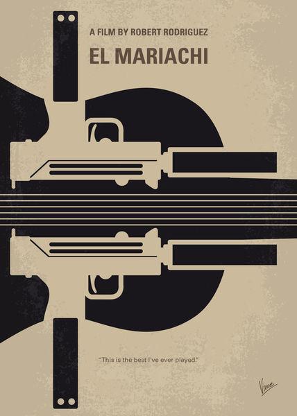 No445-my-el-mariachi-minimal-movie-poster