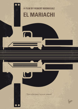 No445-my-el-mariachi-minimal-movie-poster