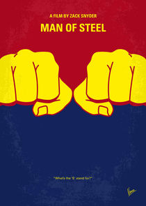 No447 My Men of steel minimal movie poster von chungkong