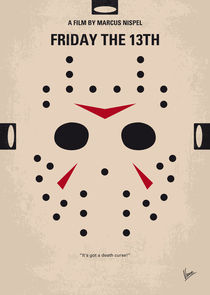 No449 My Friday the 13th minimal movie poster von chungkong