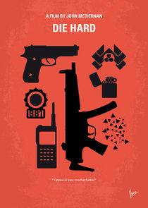 No453 My Die Hard minimal movie poster von chungkong