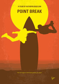 No455 My Point Break minimal movie poster by chungkong