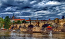 Charles Bridge and St. Vitus Cathedral by Tomas Gregor