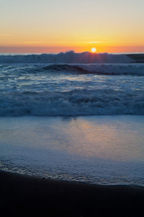 Ocean Surf at Sunset by Sharon Foelz
