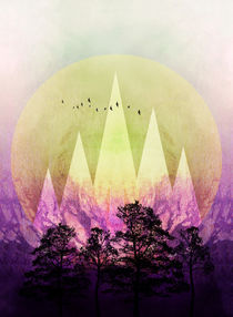 TREES under MAGIC MOUNTAINS III  by Pia Schneider