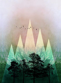 TREES under MAGIC MOUNTAINS IV  by Pia Schneider