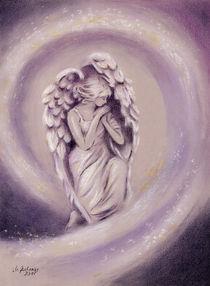 Engelgemälde Schutzengel - religiöse Malerei von Marita Zacharias