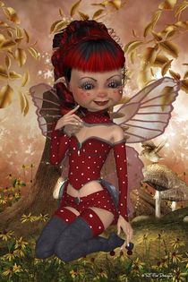 Strawberry Delight Fairy by Toni Jonckheere