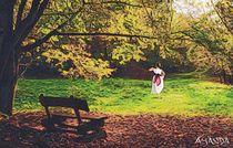 Girl In Park by Amanda Jones