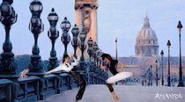 Ballet On The Bridge by Amanda Jones