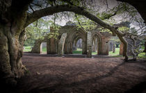 Margam Park ruined abbey by Leighton Collins