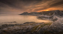 Bracelet Bay and coastguard station Gower by Leighton Collins