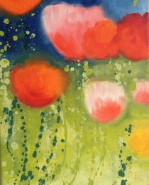 Evening Poppies by Ruth Baker