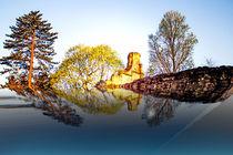Kloster versinkt im Wasser von Gabi Kaula