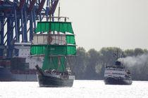 Hamburg, Alexander von Humboldt 2 und der Eisbrecher Stettin von Marc Heiligenstein