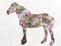 Pink blossom horse by Amanda Elizabeth  Sullivan