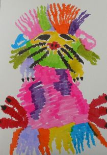 Funky hedgehog von Amanda Elizabeth  Sullivan