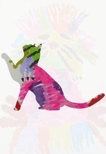 Scratchy cat by Amanda Elizabeth  Sullivan