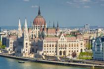 Budapest Ungarisches Parlament Parlamentsgebäude von Matthias Hauser