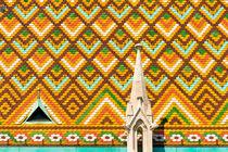 Dachziegel der Matthiaskirche in Budapest von Matthias Hauser