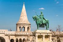 Fischerbastei mit Denkmal Budapest Ungarn by Matthias Hauser