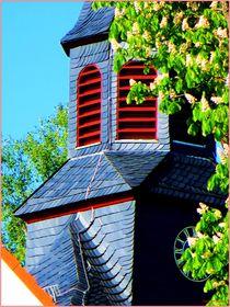 ~ hübscher Kirchturm Hessen ~ by Sandra  Vollmann