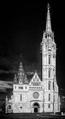 Matthiaskirche Budapest schwarzweiss von Matthias Hauser