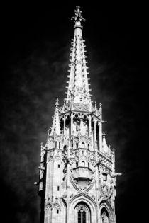 Turm Matthiaskirche Budapest schwarzweiss von Matthias Hauser