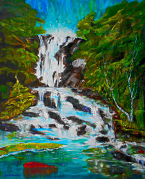 Wasserfall von Eberhard Schmidt-Dranske