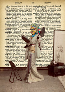 "Vintage dictionary poster, ""Geisha's room"" by Gloria Sánchez"