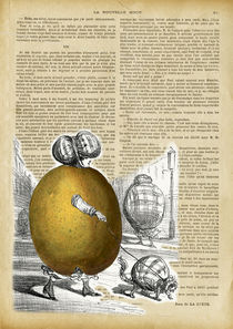 "Vintage dictionary poster, ""Lemon woman"" by Gloria Sánchez"