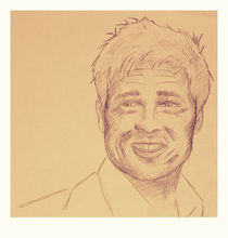 Portrait of Brad Pitt by chrisphoto