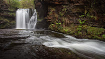 Sgwd Ddwli Isaf waterfalls by Leighton Collins
