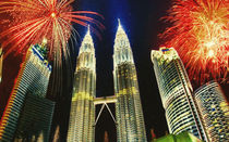 The Petronas Twin Towers  by lanjee chee