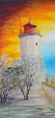 Leuchtturm Westermarkelsdorf von Barbara Kaiser