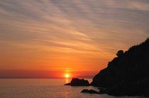 Sonnenuntergang an der Ligurischen Küste by Bruno Schmidiger