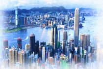 Hong Kong panorama by lanjee chee