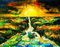 Sonnenaufgang über der Marsch von Eberhard Schmidt-Dranske