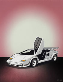 Lamborghini Countach Poster Artwork by monkeycrisisonmars