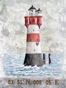 Leuchtturm Roter Sand von Roland H. Palm