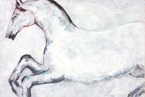 WHITE HORSE RUNNING by Elisaveta Sivas
