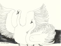TWO SWANS by Elisaveta Sivas