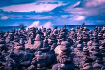 Steintürme vor dem Meer von Wilhelm Menze