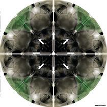Human skull Abstract Digital Painting von SIMON HOWARD