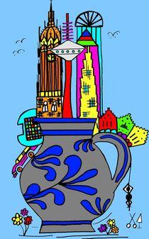 Frankfurt goes Bembel. Blau. von Hans-Peter Scherbaum