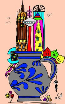 Frankfurt goes Bembel. Rosa. by Hans-Peter Scherbaum