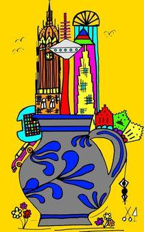 Frankfurt goes Bembel. Gelb. by Hans-Peter Scherbaum